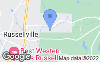 Map of Russellville, AL