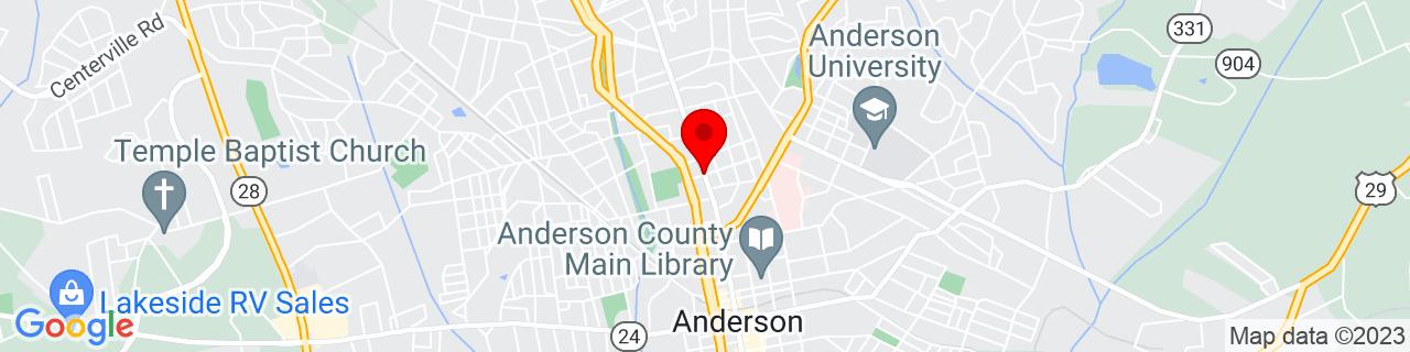 Google Map of 34.5128255, -82.65277429999999
