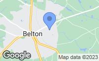 Map of Belton, SC