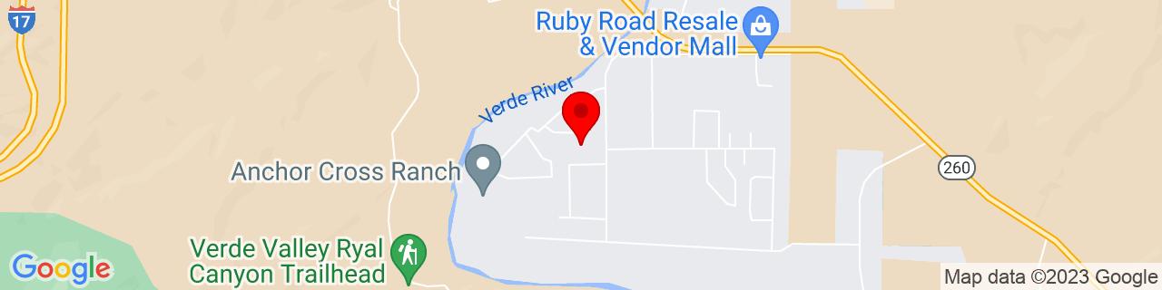 Google Map of 34.5405808, -111.8568175