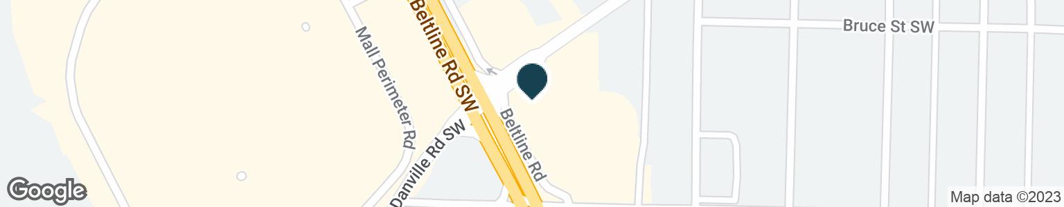 Google Map of1718 BELTLINE RD SW