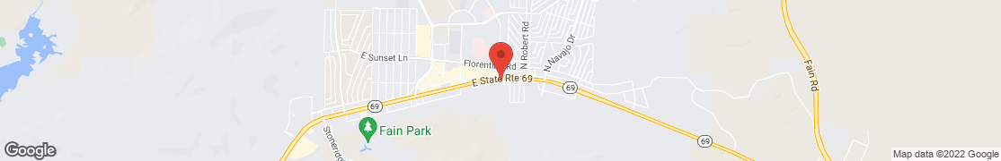 Map of 7925 E Hwy 69 in Prescott Valley