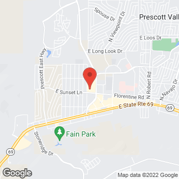 Map of Verizon Authorized Retailer - TCC at 3292 Glassford Hill Rd, Prescott Valley, AZ 86314