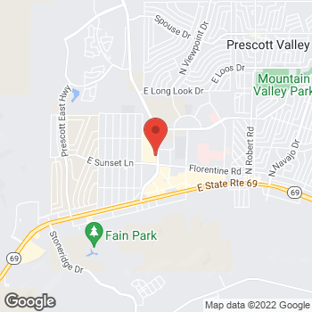 Map of Verizon Authorized Retailer – TCC at 3292 Glassford Hill Rd, Prescott Valley, AZ 86314