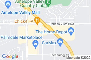 Palmdale Mattress Store Location Map