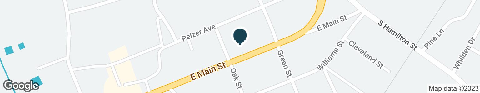Google Map of201 EAST MAIN STREET