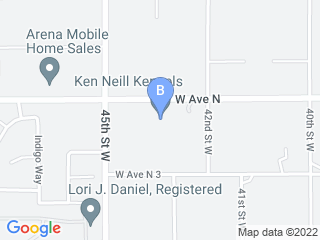 Map of Ken Neill Kennels Dog Boarding options in Palmdale | Boarding