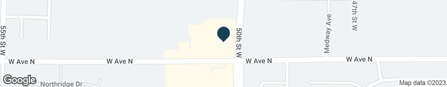Google Map of5001 W AVENUE N