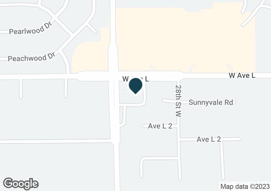Google Map of2840 W AVENUE L