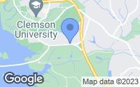 Map of Clemson, SC