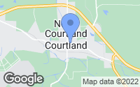Map of Courtland, AL