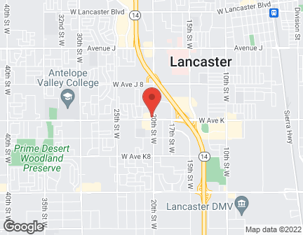 Map of 2005 W Ave K in Lancaster