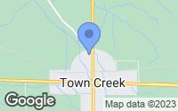 Map of Town Creek, AL