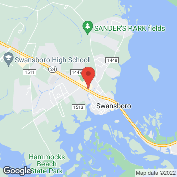 Map of Taco Bell at 650 W Corbett Ave, Swansboro, NC 28584