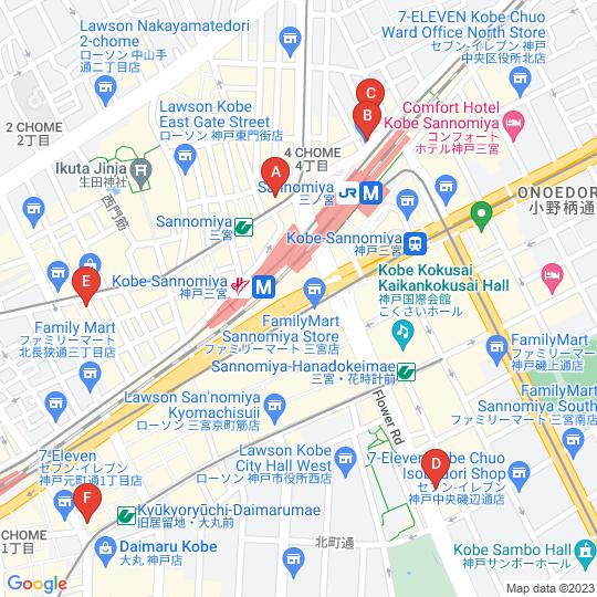 ミュゼ店舗位置