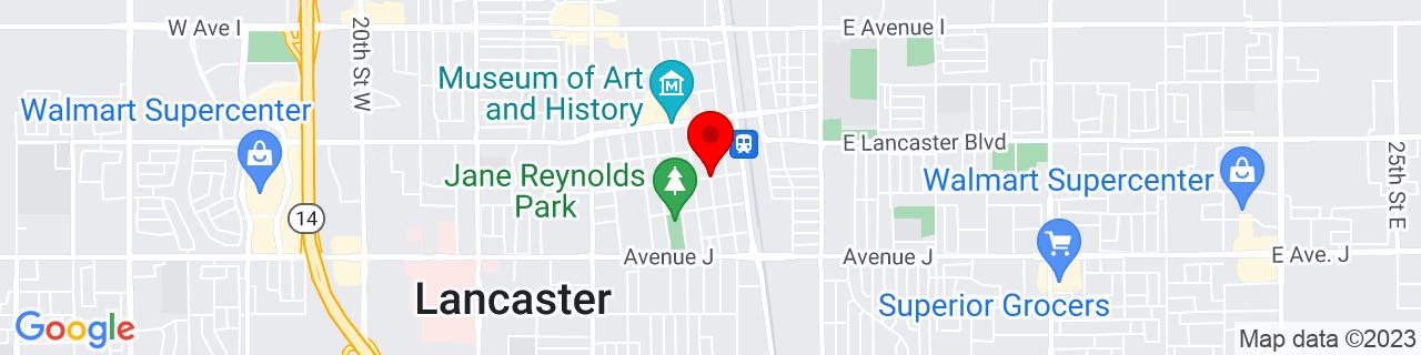Google Map of 34.6944987, -118.1389395