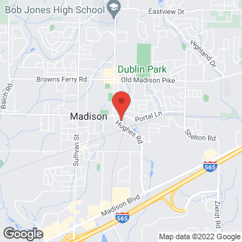 Map of Check `n Go Hughes Rd at 97 Hughes Rd, Madison, AL 35758