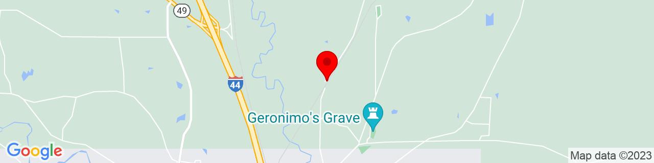 Google Map of 34.7036821, -98.3781087