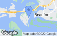 Map of Beaufort, NC