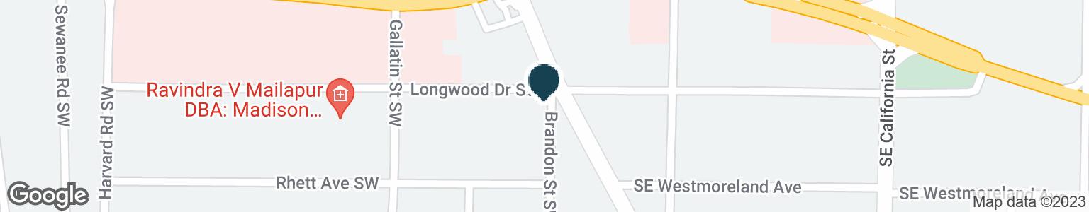 Google Map of2100 BRANDON ST SW