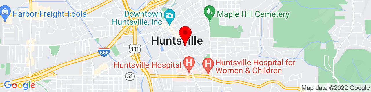 Google Map of 34.727312, -86.581593