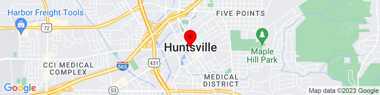 Google Map of 34.73027777777778, -86.58611111111111