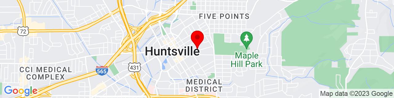 Google Map of 34.730906, -86.579078