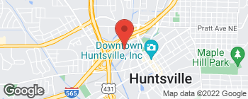 Map of 415 Church St NW in Huntsville