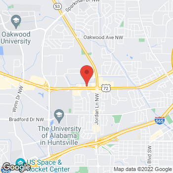 Map of Arby's at 4100 University Dr NW, Huntsville, AL 35816-3004