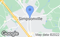 Map of Simpsonville, SC