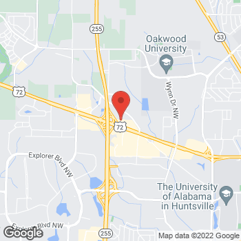 Map of Guitar Center Lessons at 5900 University Dr NW, Huntsville, AL 35806