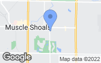 Map of Muscle Shoals, AL