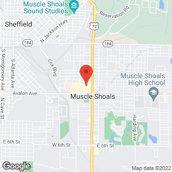 Map of Citi Trends at 1306 Woodward Ave, Muscle Shoals, AL 35661