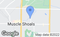 Map of Muscle Shoals, AL