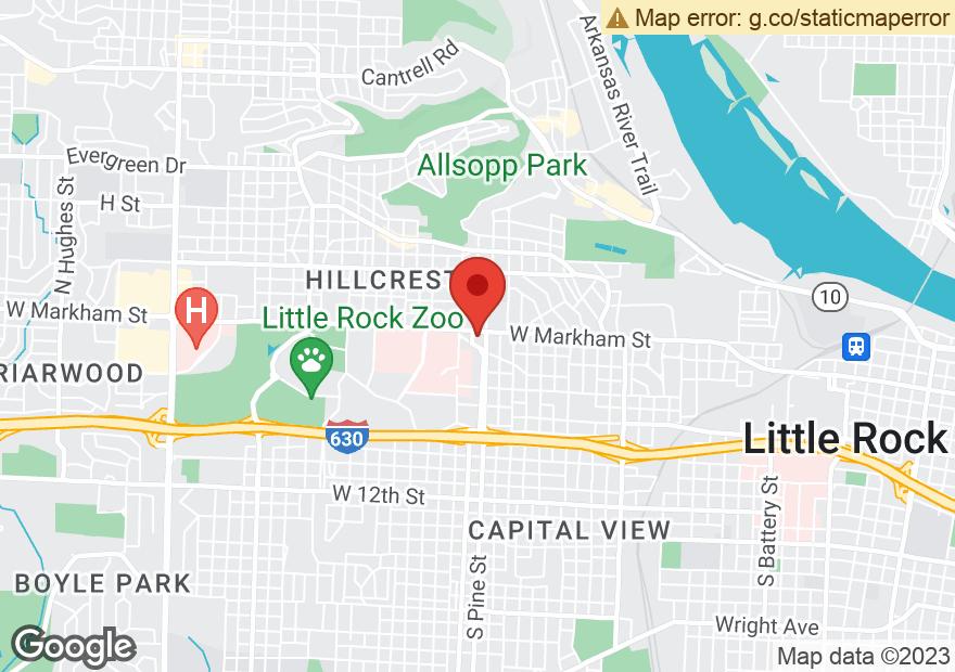Google Map of 3901 W MARKHAM ST