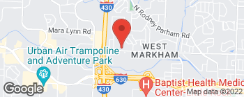 Map of 10220 W Markham St in Little Rock
