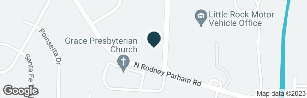 Google Map of9200 N RODNEY PARHAM RD