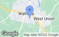 Map of Walhalla, SC