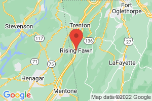 Map of Rising Fawn