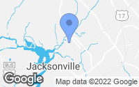 Map of Jacksonville, NC