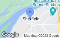 Map of Sheffield, AL