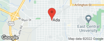 Map of 211 W Main St in Ada