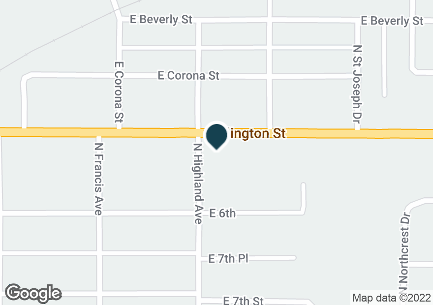 Google Map of1005 ARLINGTON ST
