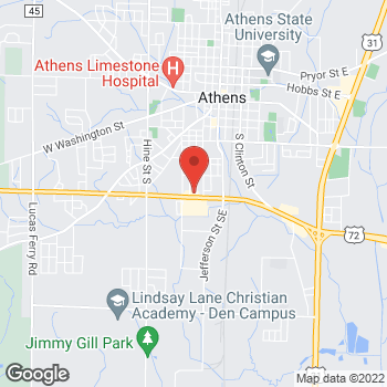 Map of Arby's at 600 W 13th St, Athens, AL 35611-4212