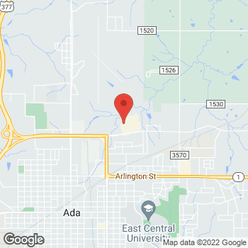 Map of Check `n Go at 1102 North Hills Shopping Centre, Ada, OK 74820