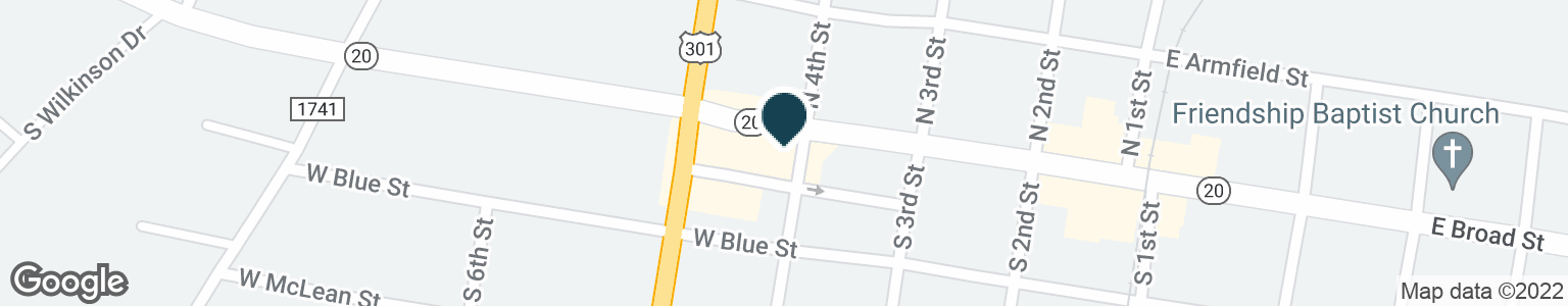 Google Map of419 W BROAD ST