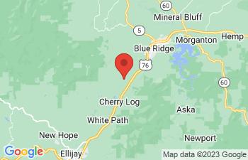 Map of Blue Ridge