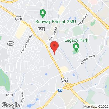 Map of Guitar Center at 2463 Laurens Road, Greenville, SC 29607