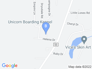 Map of Unicorn Boarding Kennel Dog Boarding options in Huntsville | Boarding