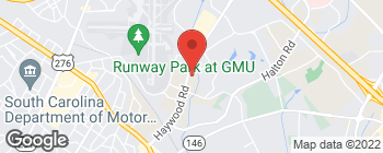 Mapa de 430 Haywood Rd en Greenville